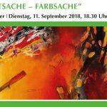 """Ausstellungseröffnung """"HAUPTSACHE – FARBSACHE"""" – Ingrid Traxler"""